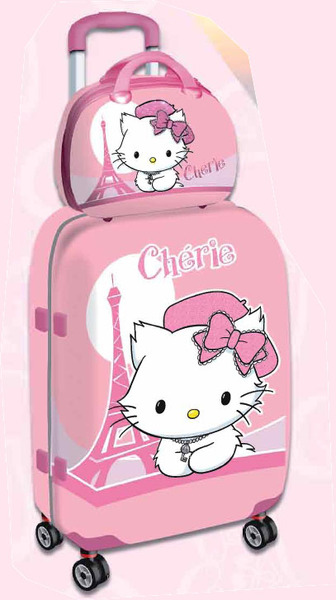 6558d95f6 MALETA TROLLEY CHARMMY KITTY CHERIE + NECESER Distribuidores ...