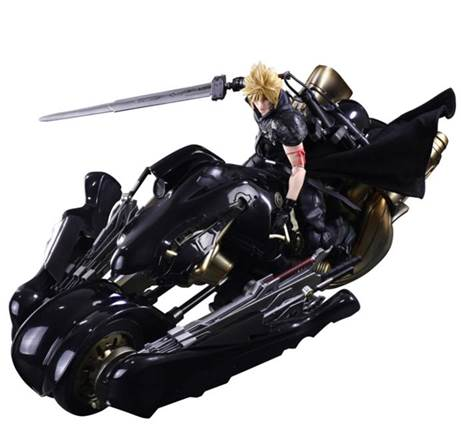 FIGURA FINAL FANTASY VII CLOUD & FENRIR 28 CM