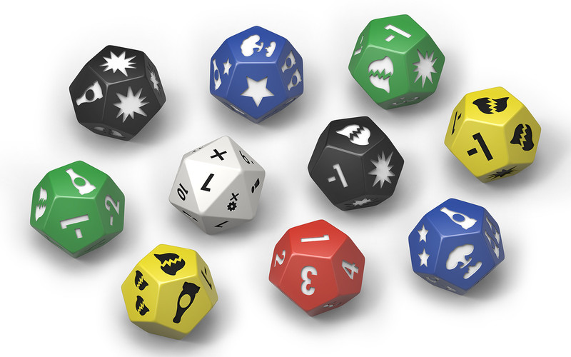 FALLOUT WASTELAND W: EXTRA DICE SET (INGLES)