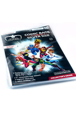 ULTIMATE GUARD COMICS BAG RESEALABLE SILVER SIZE (100 units)