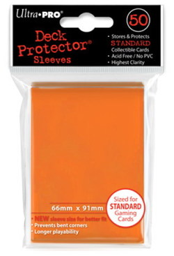 ULTRA PRO DECK PROTECTOR CARD SLEEVES SOLID ORANGE (50)
