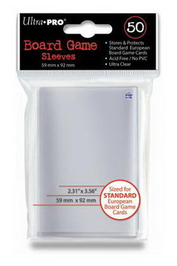 ULTRA PRO CARD SLEEVES - BOARD GAME 59X 92 MM (50)