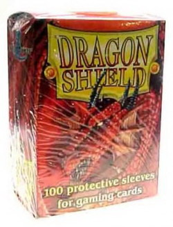 DRAGON SHIELD SLEEVES - BOX OF 100 - RED