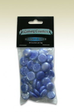 DRAGON SHIELD - OPAQUE GAMING COUNTERS - MARBLE BLUE (30)