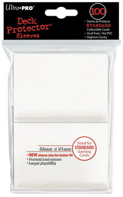 ULTRA PRO SLEEVES - STANDARD SIZE - WHITE - 100CT