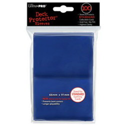 ULTRA PRO SLEEVES - STANDARD SIZE - BLUE - 100CT
