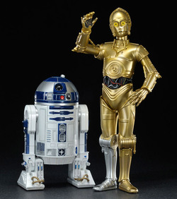 STAR WARS ARTFX+ SERIES C-3PO & R2-D2 7-INCH SET OF 2 STATUES