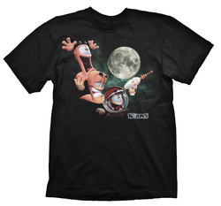 CAMISETA WORMS - THREE WORMS MOON L