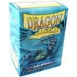 DRAGON SHIELD SLEEVES - BOX OF 100 - TURQUOISE