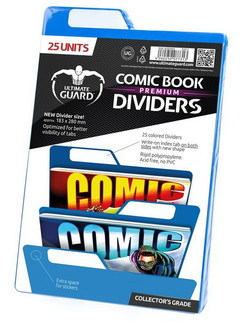 COMIC BOOK DIVIDERS - PREMIUM - BLUE