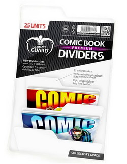 COMIC BOOK DIVIDERS - PREMIUM - WHITE