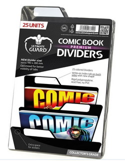 COMIC BOOK DIVIDERS - PREMIUM - BLACK