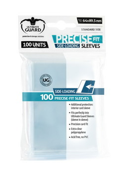 ULTIMATE GUARD PRECISE-FIT SLEEVES SIDE-LOADING STANDARD SIZE TR