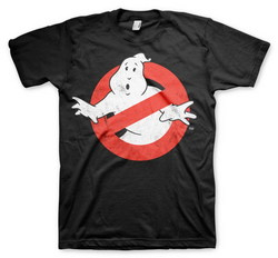 GHOSTBUSTERS DISTRESSED LOGO (BLACK) XXL