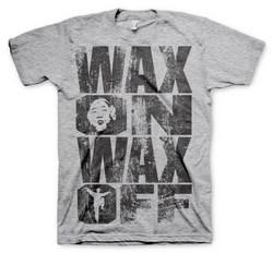 WAX ON WAX OFF T-SHIRT (H.GREY) XXL