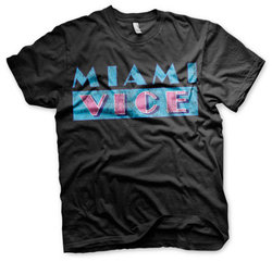 MIAMI VICE DISTRESSED LOGO HOODIE (BLACK) L