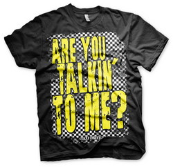 TAXI DRIVER - ARE YOU TALKING TO ME T-SHIRT (BLACK) XXL
