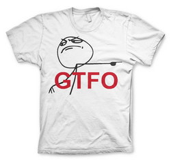 GTFO T-SHIRT (WHITE) XL