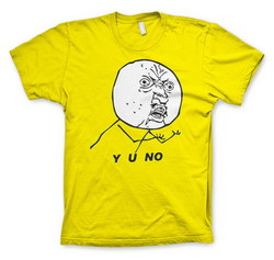 Y O NO T-SHIRT (YELLOW)  XL