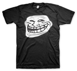 TROLLFACE T-SHIRT (BLACK) XL