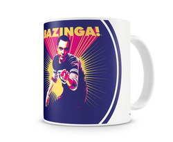 TAZA BIG BANG THEORY SHELDON SAYS BAZINGA