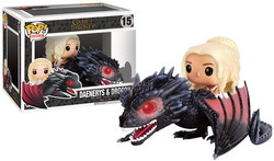 FUNKO POP RIDES! - GAME OF THRONES DAENERY & DROGON VINYL FIGURE