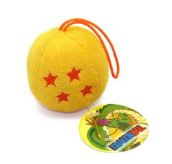 DRAGON BALL - PLUSH CRISTAL BALL KEYCHAIN X6