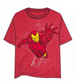 CAMISETA IRON MAN VUELO ROJO XL
