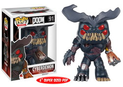 DOOM SUPER SIZED POP! GAMES VINYL FIGURE CYBERDEMON 15 CM