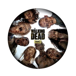 THE WALKING DEAD - MOUSEPAD - ROUND OF ZOMBIES - IN SHAPE