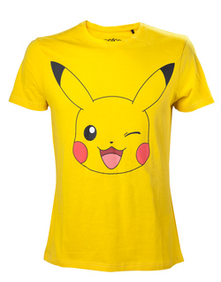 CAMISETA POKEMON PIKACHU CARA XL