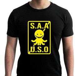 ASSASSINATION CLASSROOM - TSHIRT S.A.A.U.S.O MAN SS BLACK - NEW