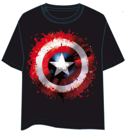 CAMISETA CAPITAN AMERICA PAINT LOGO XL