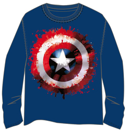 CAMISETA M LONG CAPITAN AMERICA PAINT S