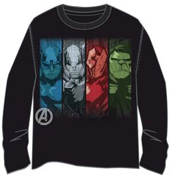 T-SHIRT M LONG MARVEL AVENGERS FACES XL