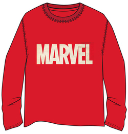 CAMISETA M LONG MARVEL LOGO ROJO XL