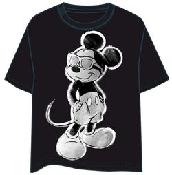 T-SHIRT MICKEY MOUSE POSE B/N L