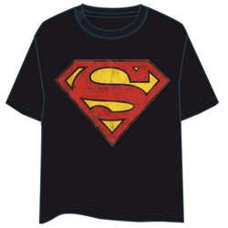 T-SHIRT SUPERMAN LOGO NEGRO M
