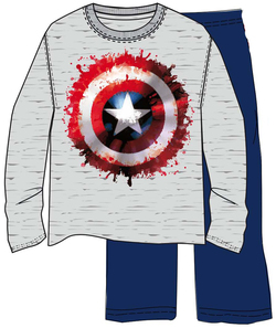 PIJAMA ML WINTER CAPITAN AMERICA PAINT XL