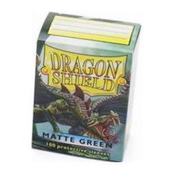 DRAGON SHIELD STANDARD SLEEVES - MATTE GREEN (100 SLEEVES)