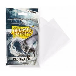 DRAGON SHIELD STANDARD PERFECT FIT SLEEVES - CLEAR/CLEAR (100 SL