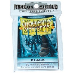 FUNDA YUGI DRAGON SHIELD BLACK (50)