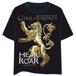 GAME OF THRONES T-SHIRT - LANNISTER LOGO XXL