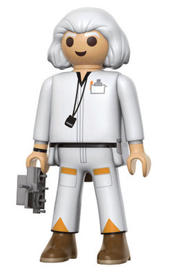 FIGURA PLAYMOBIL FUNKO BACK TO FUTURE DOC 15 CM