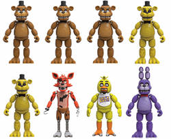 CAJA FIGURAS FIVE NIGHTS AT FREDDY 12 CM (8)