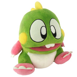 BUBBLE BOBBLE PLUSH FIGURE WITH SOUND BUB 22 CM