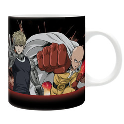 ONE PUNCH MAN - MUG - 320 ML - SAITAMA & GENOS - SUBLI - WITH BO