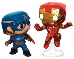 FIGURA POP MARVEL PACK CAP AMERICA VS IRON MAN