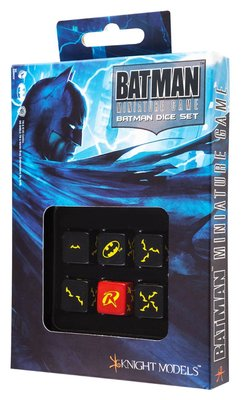 BATMAN MINIATURE GAME - D6 BATMAN DICE SET (6)