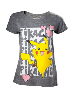 CAMISETA CHICA POKEMON PIKACHU LOVE XL